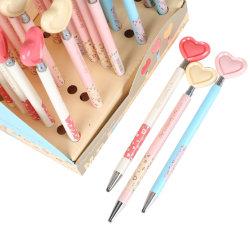 القرطاسية قلم لطيف مخصص القلم أنيق القلب تدوم طويلاً قلم كروي قابل للسحب