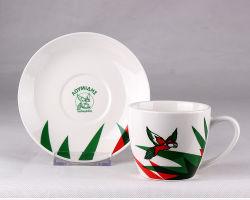2020 tazza e Saucer in ceramica creativa con vendita calda Logo personalizzato per la promozione