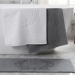 Blanco Gris alfombra de baño Cuarto de baño 100% algodón toalla de felpa Jacquard de 5 estrellas Hotel Quality toallas