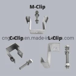 スチール / ステンレススチール /FRP GPR グラスファイバグレーティングクリップ、釘付き およびボルト