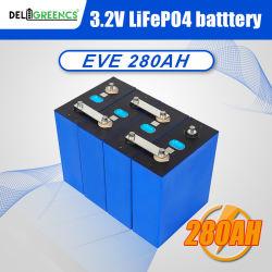 بطارية ليثيوم أيون من الدرجة A+ Prismatic 280ah قابلة لإعادة الشحن بطارية LFePO4 Lithium Ion Solar للأجهزة المنزلية وأجهزة الإلكترونيات الاستهلاكية