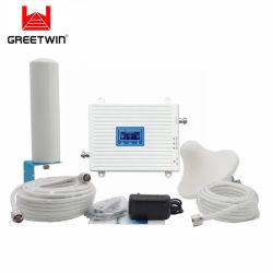 20dBm 65dB 세 배 악대 GSM 900 Dcs 1800 WCDMA 2100 2g 3G Pico RF 통신망 증폭기 이동할 수 있는 신호 승압기 셀룰라 전화 신호 중계기