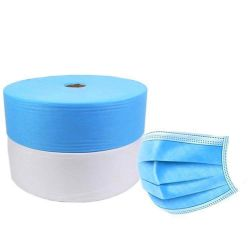 Nicht gewobene Gewebe 100% PP Polypropylen Spunbond 25 GSM Weiß 30 GSM Blau für medizinische Gesichtsmasken Gesichtsmasken nicht gewebte Gewebe
