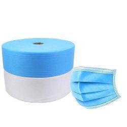 قماش غير منسوجة 100% بوليبروبيلين بوليبروبيلين سبيونبوند 25 GSM أبيض 30 جي إس إم بلو لأقنعة الوجه الطبية