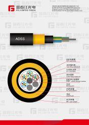 Al Diëlektrische Spanwijdte 900m Kabel ADSS van Kernen 14-18 van de zelf-Steun Optische
