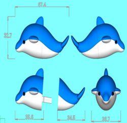 Dolphin Image Design Custom 8 GB 16 GB 32 GB personalizado 2D/3D PVC Discos Flash USB Cartoon/Pen Drive/USB Flash Drive para Oferta promocional