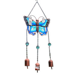 Le vent Carillon papillon de métal