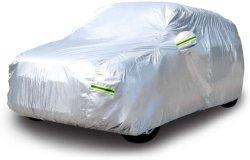 فضة [190ت] بوليستر سيارة تغطية