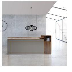 Moderner festes Holz-Empfang-Schreibtisch-Büro-Möbel-stehender Schreibtisch