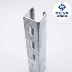 Bastidor de acero ranurado de panel solar de montaje de canal de perfil formado de rodillo U Acero en forma de Unovo