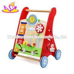 2020 Venda por grosso de madeira de aprendizagem do Saca-bebê brinquedo para empurrar ao longo W16e142