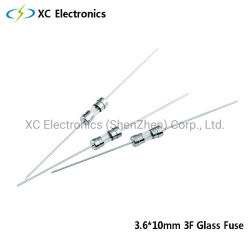 XCヒューズ3.6*10 3F UL/CSA GlsssのKCおよびPSEの証明の速い打撃のヒューズ