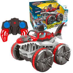 2021 nieuwe RC Cars Hobby Shark Shape Kis Gift 360 Graden draait Remote Controlled Stunt Amphibieuze RC Car for Sale