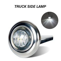 트럭 트레일러 버스용 3/4인치 LED 사이드 마커 램프 오프로드 농장 기계