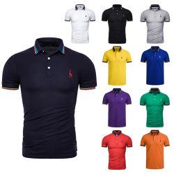 Gesamt-Polo-Hemd-Kurzschluss-Hülsen-nähendes T-Shirt der Frauen der Männer