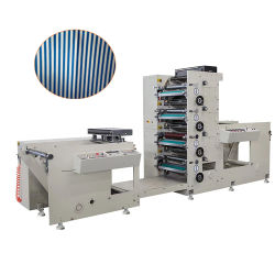 Flexography Printing Machine اضغط على أفضل بيع ورقة كأس عالي السرعة طباعة بالألوان بأربعة ألوان، طباعة بالألوان، طباعة بالألوان، طباعة بسعر الجهاز