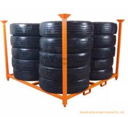 Prateleiras de armazenagem de pneus de camiões pesados de aço Palete de Armazenamento de metal 203cm Stillages Rack de pilha