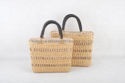 سلة القش السيدات حقيبة اليد حقيبة اليد حقيبة اليد الملابس الصفراء أزياء القش حقيبة تسوق الحقائب