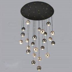 Утюг и алюминиевых светодиод 3 Вт*24ПК D80*H180см алюминия подвесной потолочный светильник