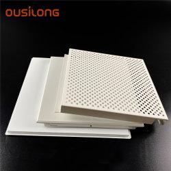 Painel de alumínio pendular perfurada comercial acústica decorativa teto metálico Board