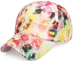 Primavera Férias de Verão Flower 6 Instrumentos Snapback Lace Silk Fashion Mulheres Hat