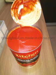 Personalizar rojos frescos de primera calidad sin aditivos Conservas de puré de tomate 3kg para el mercado australiano