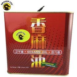Dragon Lee Brand Traditional100% Purity Natural Sesame Oil/Edible Plant Oil علبة في 2 لتر معدن تين لسوبر ماركت