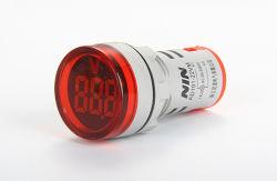 Nin 22mm101-22AD vm Round Big Tube numérique conduit l'affichage numérique AC voltmètre