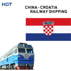 Bahntransport-Behälter von China Kroatien-zum Haus-Hausfracht-Versenden