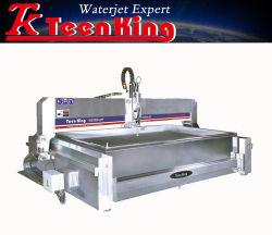 Völlig deckte Edelstahl CNC-abschleifende Wasserstrahlausschnitt-Maschine mit der 3 Mittellinien-Ausschnitt-Kopf ab