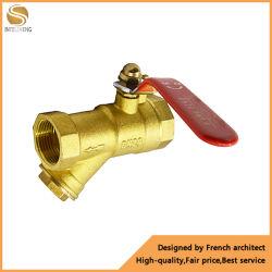 Watermessing Y-type strainer voor water met kogelafsluiter 1/2
