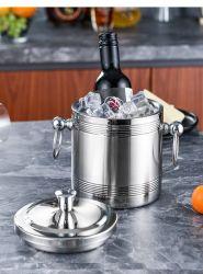 Acier inoxydable Ustensiles de cuisine ustensile de club thermal de glace à double paroi de la bière la benne