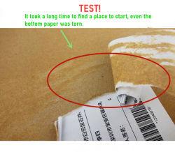 Auto-adesiva para direcionar a etiqueta térmica Material no rolo jumbo para logística de transporte etiqueta autocolante