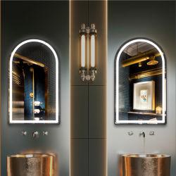 أثاث ديكور منزل 5 مم أرش يعكس الديكور المشطوب على الجدار الحمام بمرآة مرآة الزينة العادية