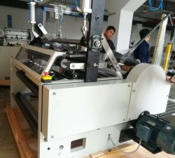 Автоматическая обработка больших рулон бумаги на ломтики перематывающего устройства