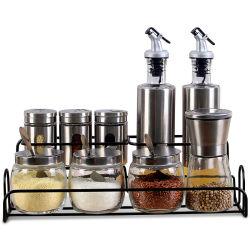 Contenedor de condimentos condimentos la botella de salsa de conjunto de la caja de especias sal pimienta agitadores de la Muela Establecer Esg14506