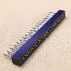 1.778mm 피치 암 SIP 소켓 1X19POS 일자형 헤더 머신 핀 PPS H = 3.0mm 커넥터