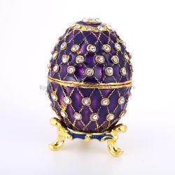 Nova Caixa de jóias de esmalte Ovo de Páscoa