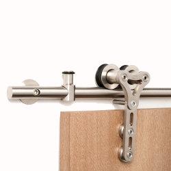 Außenhochleistungsset-Schrank, der den industriellen ruhigen Überbrückungs-Edelstahl-Doppelt-Installationssatz schiebt Stall-Tür-Befestigungsteile rollt