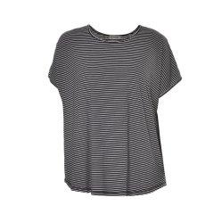 Korte Koker Balck met de Witte T-shirt van de Dames van de Streep