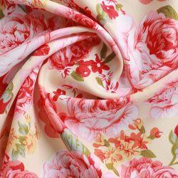 100%년 폴리에스테 빨간 꽃에 의하여 인쇄되는 침대 시트 직물 직물