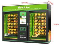 새로운 건강 음식 신선한 과일 샐러드 엘리베이터 벤딩 기계 식품 기계류 미니 피자 자판기 27인치 터치 자판기 스낵 자판기