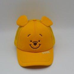 100% coton modèle personnalisé charmant ourson ours broderie occasionnel Enfants Bébé jaune Casquette de baseball baseball Hat avec de l'oreille