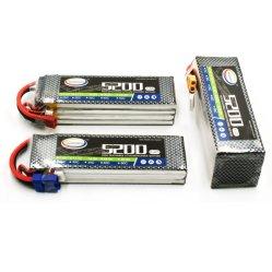 Pacchetto della batteria 14.8V 4s 5200mAh RC Heli Lipos di RC Lipo con i decani Ultra Connector T-Spina