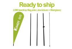 Vorbereiten, um zu versenden! 2.8m Teardrop-Markierungsfahne Pole (Aluminium + Fiberglas)