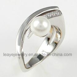 Достопочтенный простые зерна Pearl женщин кольцо 925 Коллекции Серебра Ювелирные изделия