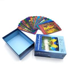 カスタム印刷カラースエードタロットカードボックスストレージ従来の光沢 ガイドブック付きニスゲームのタロットカード