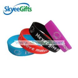 Diseño personalizado pulsera de silicona para promoción