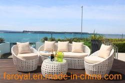 Sofá junco de alta calidad establece nuevos muebles de patio de mimbre al aire libre con precio competitivo