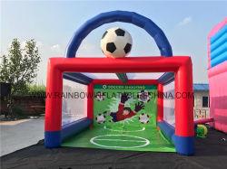 フットボールのスポーツモデルサッカーのための膨脹可能な射撃のゲーム
